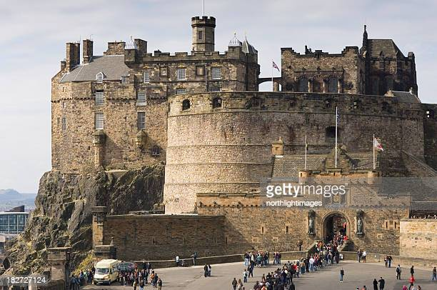 Magnificent view of Edinburgh Castle