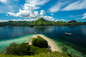 Beautiful landscapes in Komodo Island, Labuan Bajo Indonesia. The islands of unesco heritage and one of the magic wonders in the world.