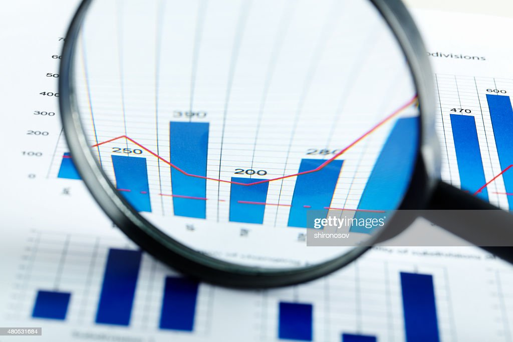Magnified increase : Stockfoto