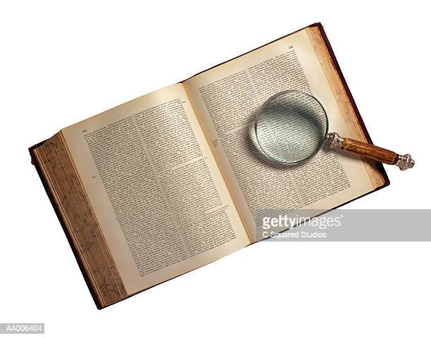 Magnifying Glass on an Encyclopedia
