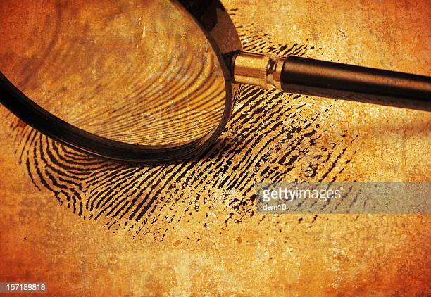Magnifying glass on Fingerprint
