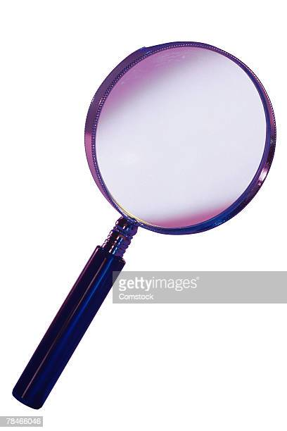 Magnifying glass symbolizes internet search and enlarge