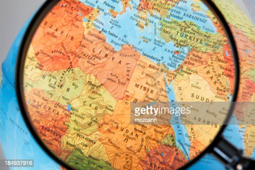 Magnifying North Africa and Middle East