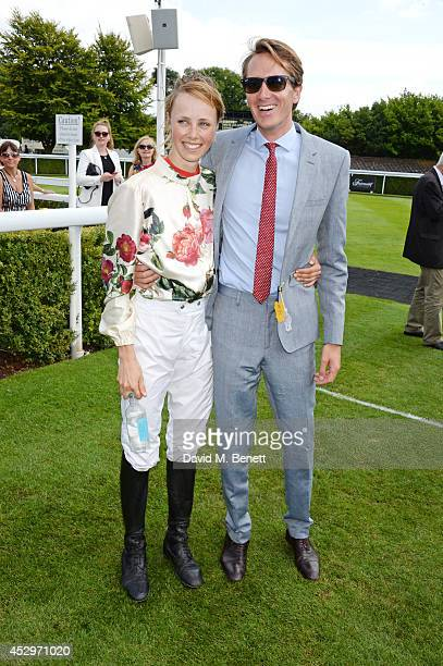 Magnolia Cup winner Edie Campbell and Otis Ferry attend Glorious Goodwood Ladies Day at Goodwood on July 31 2014 in Chichester England