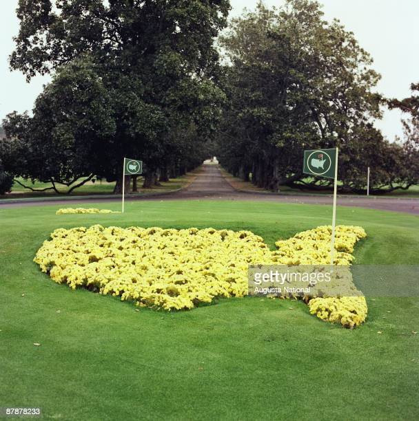 Magnolia Lane during the 1977 Masters Tournament at Augusta National Golf Club in April 1977 in Augusta Georgia