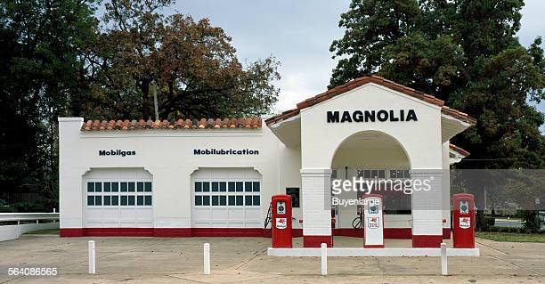 Magnolia Mobil Gas station a gathering place during the Civil Right Movement across the street from Central High School in Little Rock Arkansas