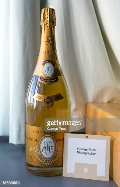 A magnum of Cristal Champagne from the Louis Roederer International Wine Writers Award event is viewed on September 12 in London England Great...