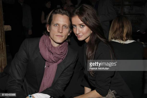 Magnus Berger and Rekha Luther attend INTERVIEW 40th Anniversary In GOOD UNITS at Hudson Hotel at Good Units on February 9 2010 in New York City