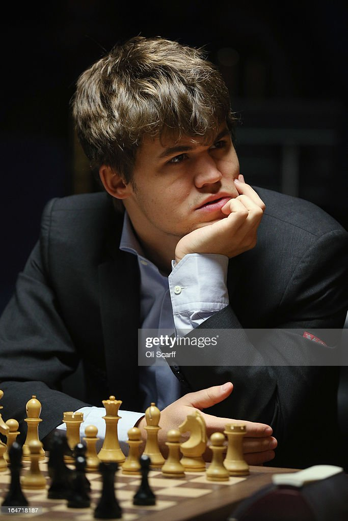 <a gi-track='captionPersonalityLinkClicked' href=/galleries/search?phrase=Magnus+Carlsen&family=editorial&specificpeople=2602660 ng-click='$event.stopPropagation()'>Magnus Carlsen</a> (L), the world's number one chess player, competes against Israel's Boris Gelfand in the Candidates Tournament at the IET on Savoy Place on March 27, 2013 in London, England. Carlsen, 22, from Norway, became the youngest player to be ranked world No.1 on January 1, 2010 and his current chess ranking (a peak rating of 2872) is the highest of all time. The Candidates Tournament features eight of the world's top chess players and will determine which player will challenge Viswanathan Anand for the title of World Champion in November 2013. The tournament will be the strongest of its kind in history and have a total prize fund of 510,000 Euros.