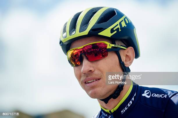Magnus Cort Nielsen of Orica Scott prior to the Elite Mens Road Race in the Danish Road Cycling Championships on June 25 2017 in Grindsted Denmark
