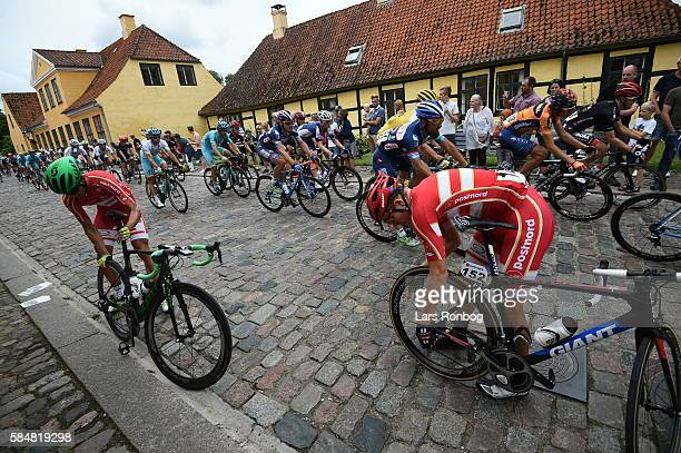Magnus Cort with problems during stage five at the Postnord Danmark Rundt race between Karrebaksminde and Copenhagen on July 31 2016 in Frederiksberg...