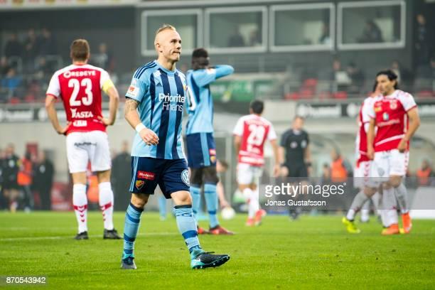 Magnus Eriksson of Djurgardens IF during the allsvenskan match between Kalmar FF and Djurgarden IF at Guldfageln Arena on November 5 2017 in Kalmar...