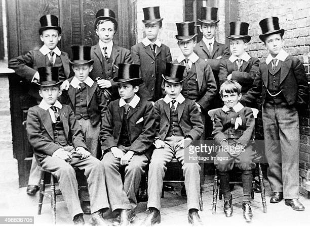 Magnus Grammar School boarders in their best uniforms Newark on Trent Nottinghamshire c1895 Boarders appear to have been first taken alongside day...