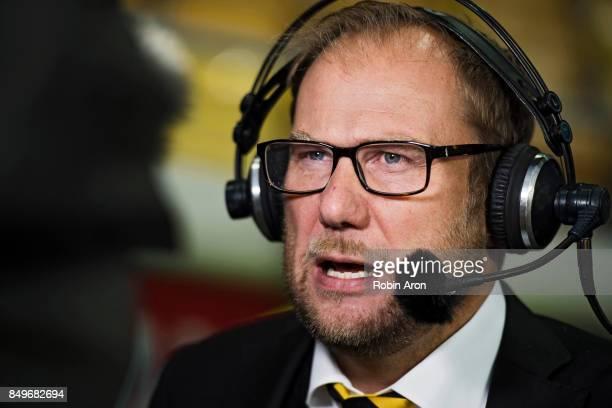 Magnus Haglund head coach of IF Elfsborg before the Allsvenskan match between IF Elfsborg and Djurgardens IF at Boras Arena on September 19 2017 in...