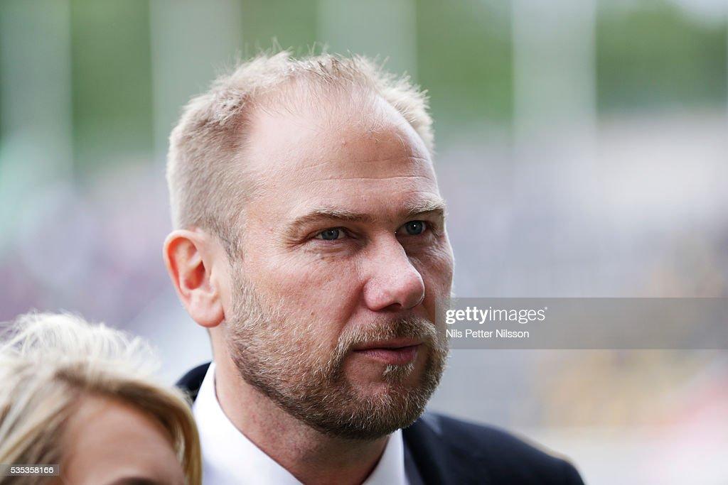 Magnus Haglund, head coach of IF Elfsborg during the Allsvenskan match between IFK Norrkoping and IF Elfsborg at Ostgotaporten on May 29, 2016 in Norrkoping, Sweden.