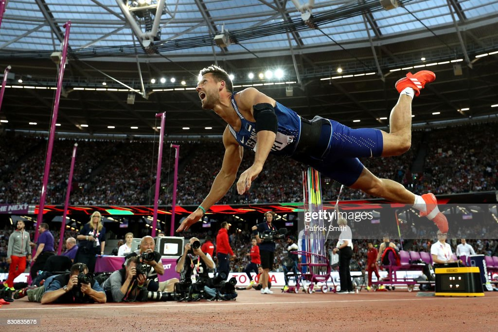 Magnus Kirt of Estonia competes during the Men's Javelin Throw final during day nine of the 16th IAAF World Athletics Championships London 2017 at The London Stadium on August 12, 2017 in London, United Kingdom.
