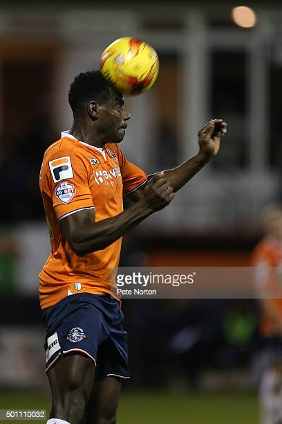 Magnus Okuonghae of Luton Town in action during the Sky Bet League Two match between Luton Town and Northampton Town at Kenilworth Road on December...