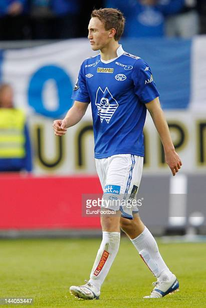 Magnus Wolff Eikrem of Molde FK in action during the Norwegian Tippeligaen match between Molde FK and Aalesunds FK held on May 6 2012 at the Aker...