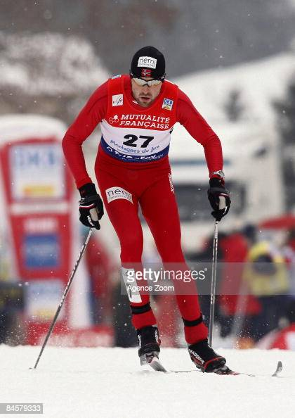 MagnusH Moan of Norway takes 3rd Place during FIS World Cup Nordic Combined Men's Individual Gundersen on February 1 2009 in Chaux Neuve France