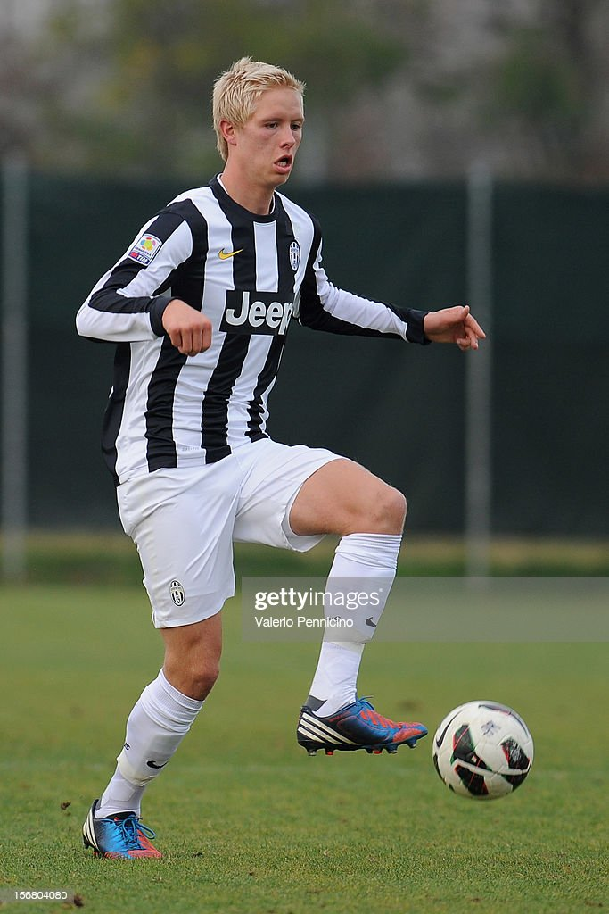 Magnusson of Juventus FC in action during the Juvenile match between Juventus FC and FC Parma at Juventus Center Vinovo on November 21, 2012 in Vinovo, Italy.