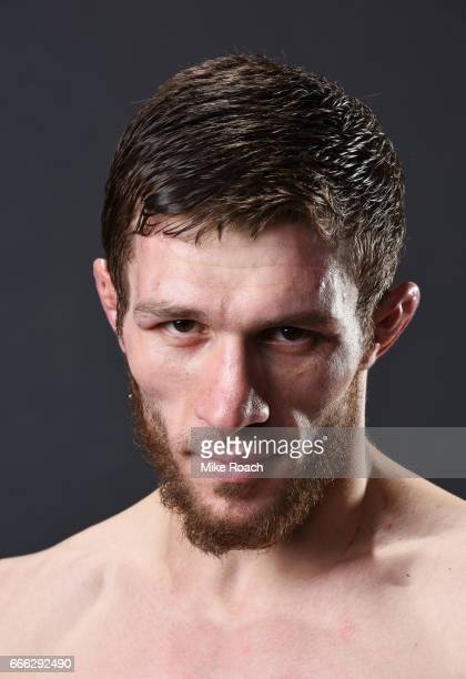 Magomed Bibulatov of Russia poses for a portrait backstage after defeating Jenel Lausa of the Philippines at KeyBank Center on April 8 2017 in...