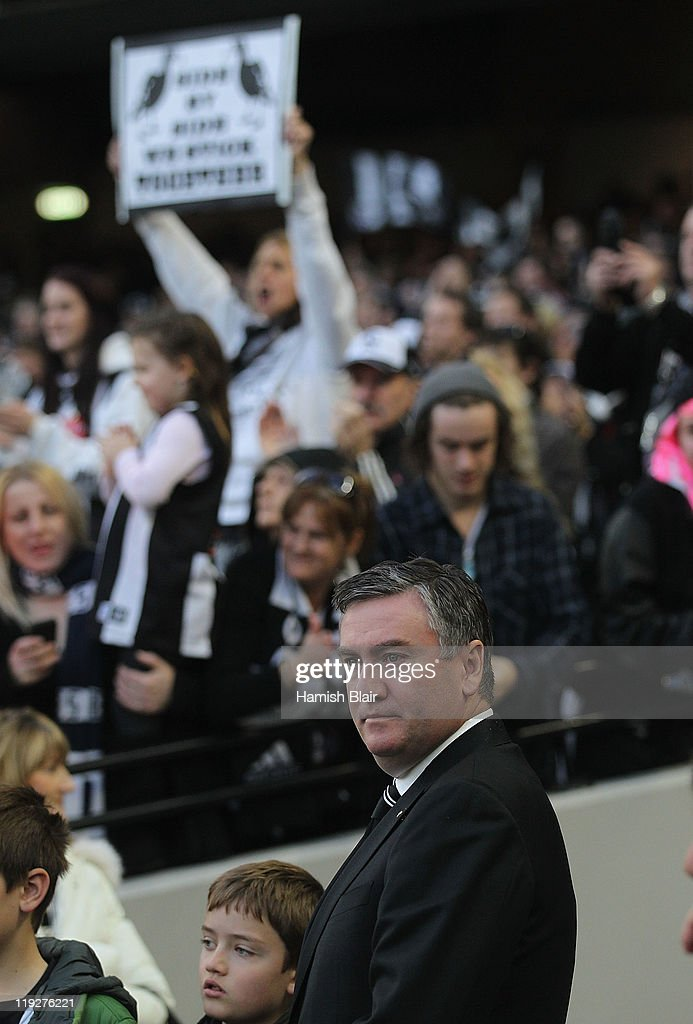 Magpies president Eddie McGuire looks on after the round 17 AFL match between the Carlton Blues and the Collingwood Magpies at Melbourne Cricket...