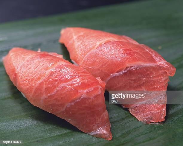 Maguro, hand shaped sushi