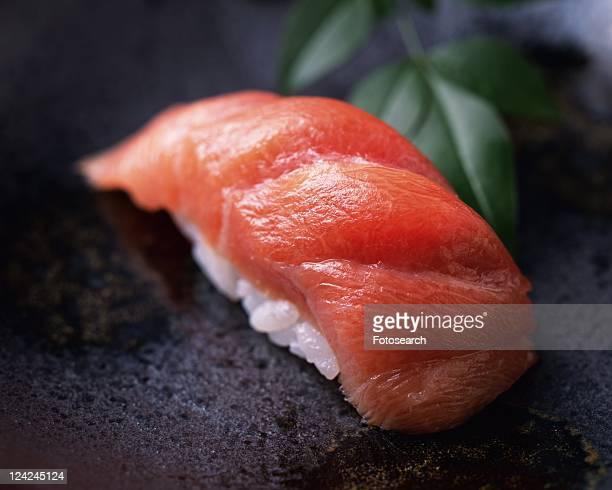 Maguro, hand-shaped sushi