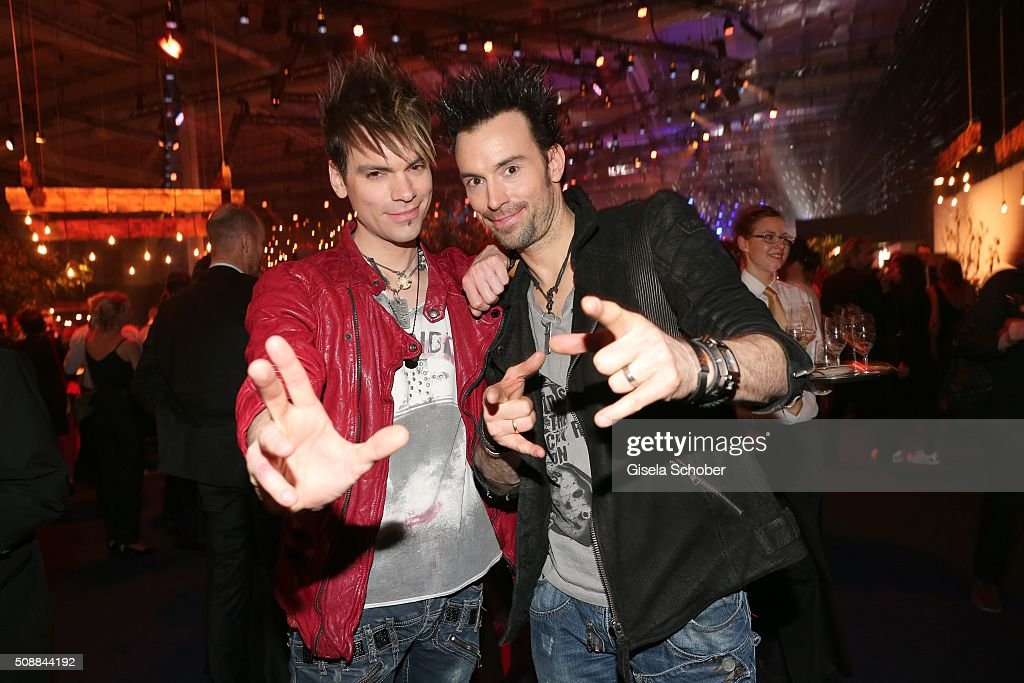 Magus Christian Ehrlich (L) and his brother Andreas Ehrlich (R) , the Ehrlich Brothers during the after show party of the Goldene Kamera 2016 on February 6, 2016 in Hamburg, Germany.
