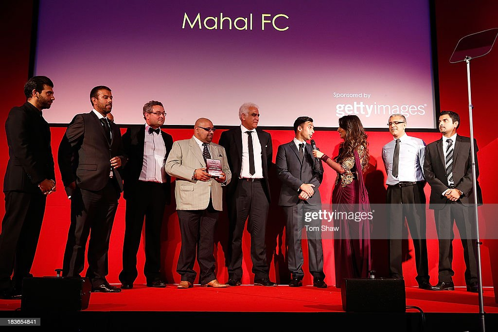 Mahal FC collect the Asian Team Award during the Second Annual Asian Football awards at Wembley Stadium on October 8, 2013 in London, England.
