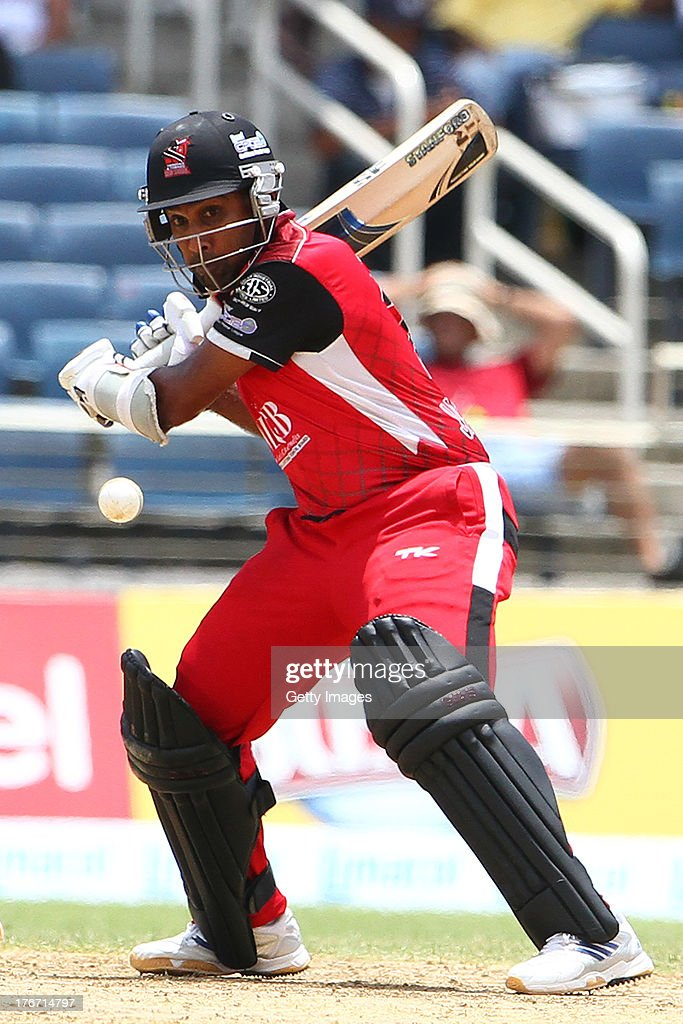 Mahala Jayawardene bats during the Eighteenth Match of the Cricket Caribbean Premier League between St. Lucia Zouks v Trinidad and Tobago Red Steel at Sabina Park on August 17, 2013 in Kingston, Jamaica.
