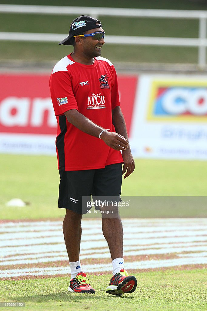 Mahala Jayawardene during the Eighteenth Match of the Cricket Caribbean Premier League between St. Lucia Zouks v Trinidad and Tobago Red Steel at Sabina Park on August 17, 2013 in Kingston, Jamaica.