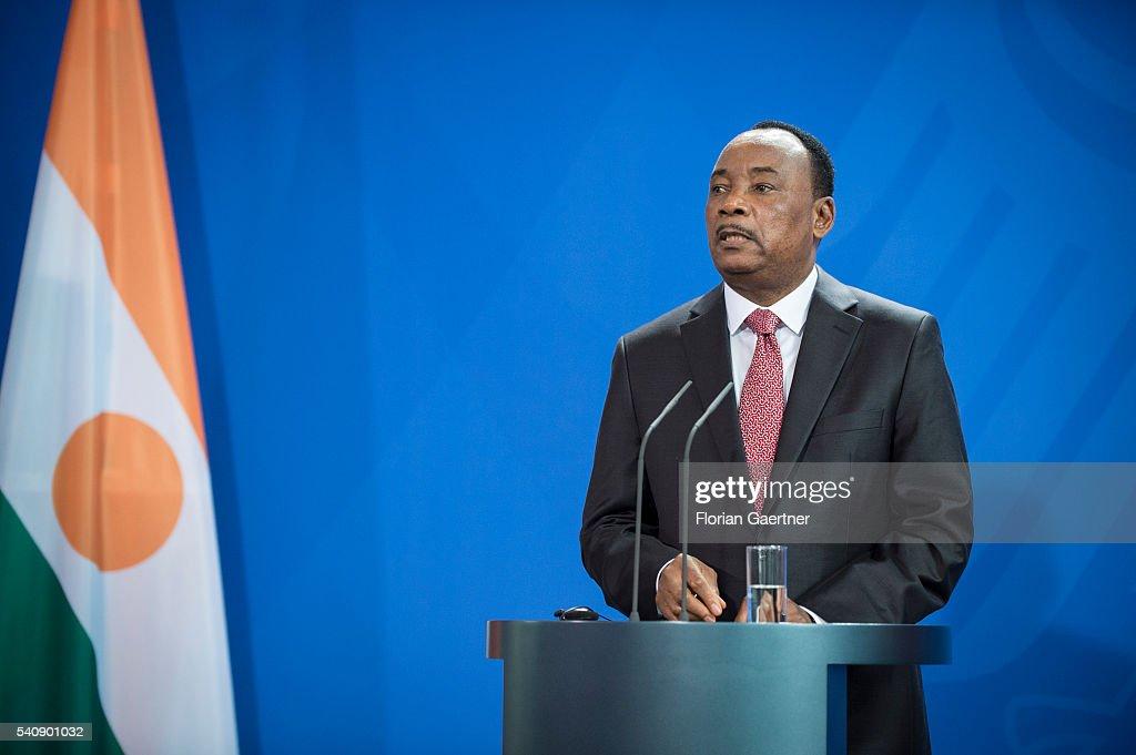 President Of Niger Issoufou Visits Merkel