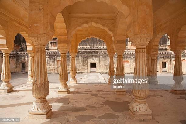 Maharani Courtyard Amber Palace Fort Rajasthan India