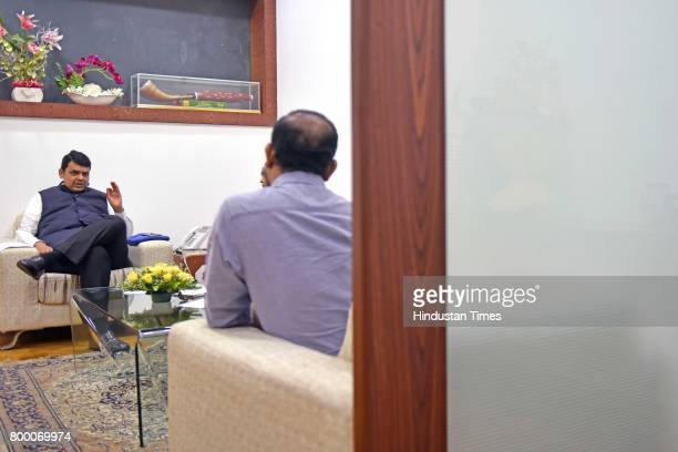 Maharashtra Chief Minister Devendra Fadnavis during an exclusive interview with Hindustan Times at his residence on June 21 2017 in Mumbai India