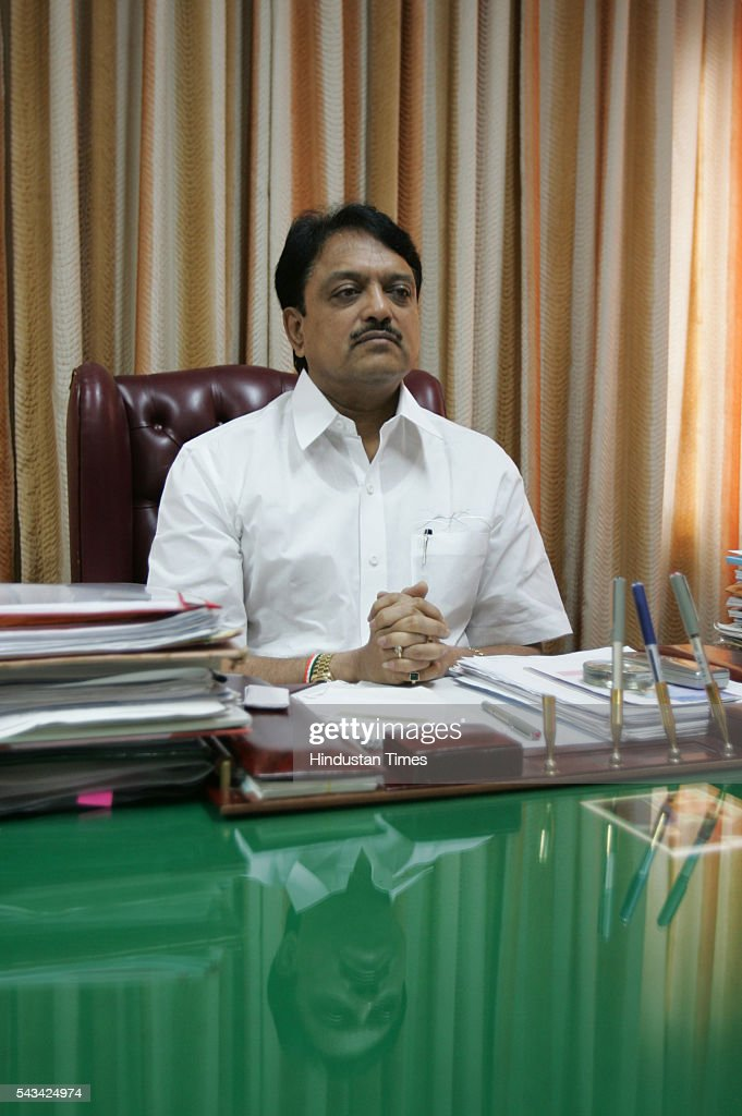 Maharashtra Chief Minister Vilasrao Deshmukh on August 2, 2005 in Mumbai, India.