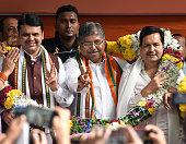 IND: Maharashtra CM Fadnavis Facilitates Chandrakant Patil,Mangal Prabhat Lodha
