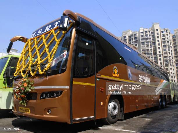 Maharashtra State Road Transport Corporation launches two Jumbo Multi Axle Volvo Buses with new brand name ASHWAMEDH on Sunday