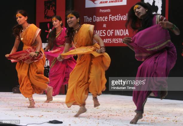 Maharashtrian Marathi Dance Performance on Jogva a Maharashtrian folk dance at Kalaghoda Mumbai on Monday
