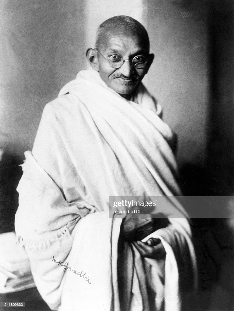Mahatma Gandhi Hindu nationalist and spiritual leader Photgraphed in London in 1931