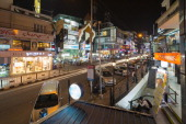 Mahatma Gandhi Road MG Road is one of the city's amusement spots seen at night