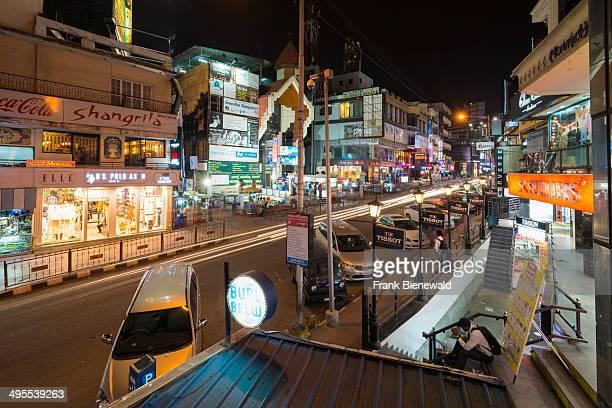 Mahatma Gandhi Road MG Road is one of the city's amusement spots seen at night