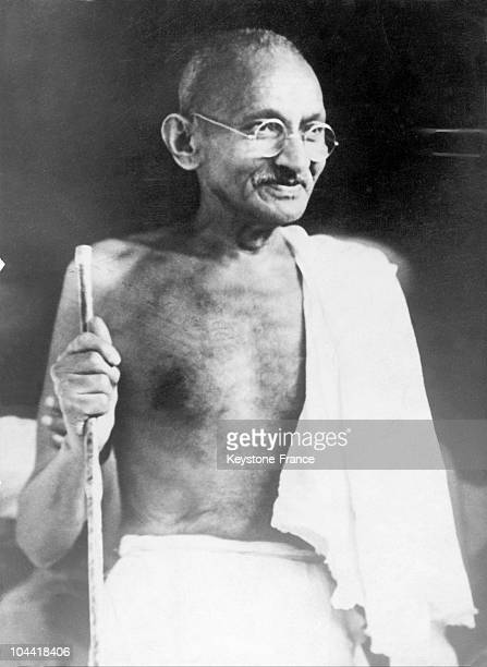 Mahatma GANDHI the founder of the Indian National Congress in the 1930's