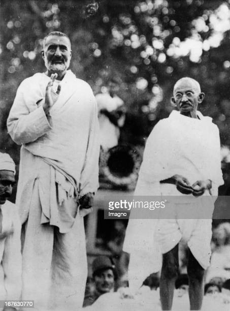 Mahatma Gandhi visit the northwestborder of India Left the political leader of the border region Khan Abdul Gaffar Khan Photograph About 1936 Mahatma...