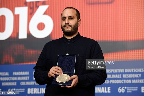 Mahdi Fleifel winner of the Short Film Jury Prize Award for his film 'A man returned' attends the award winners press conference of the 66th...