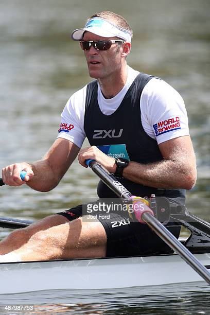 Mahe Drysdale of the New Zealand Summer Squad during the North Island Club Championships at Lake Karapiro on February 9 2014 in Cambridge New Zealand