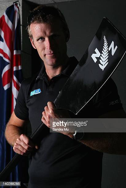 Mahe Drysdale poses following a press conference to announce the New Zealand 2012 rowing team at Lake Karapiro on March 2 2012 in Cambridge New...