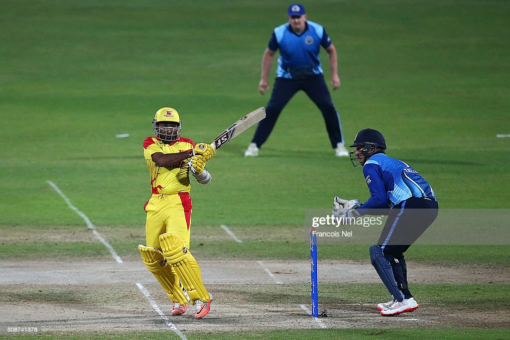 <a gi-track='captionPersonalityLinkClicked' href=/galleries/search?phrase=Mahela+Jayawardene&family=editorial&specificpeople=213707 ng-click='$event.stopPropagation()'>Mahela Jayawardene</a> of Sagittarius Strikers bats during the Oxigen Masters Champions League match between Leo Lions and Sagittarius Strikers on February 6, 2016 in Sharjah, United Arab Emirates.