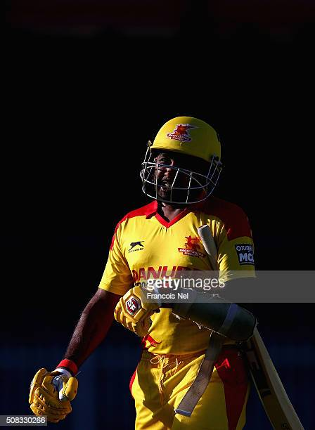 Mahela Jayawardene of Sagittarius Strikers looks on during the Oxigen Masters Champions League match between Libra Legends and Sagittarius Strikers...
