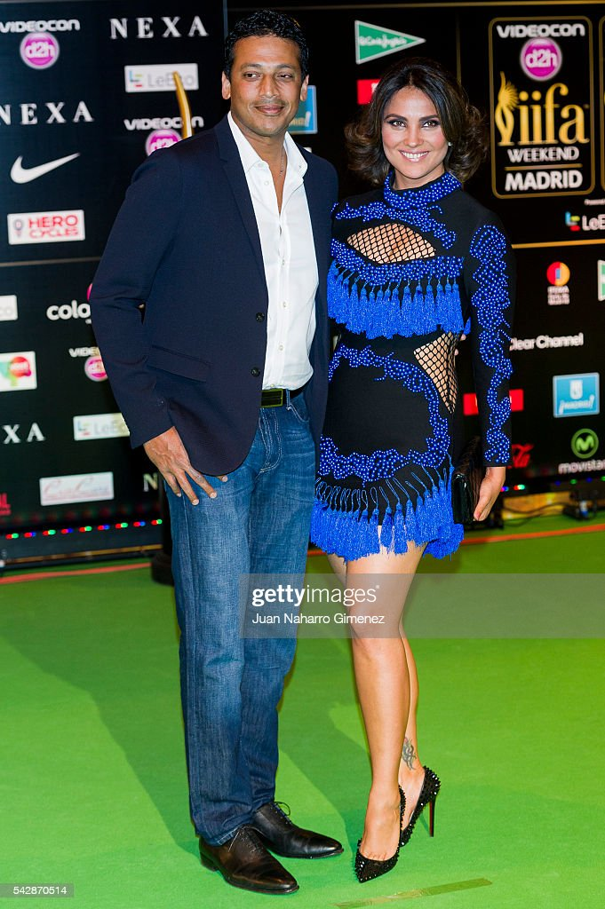 Mahes Bhupathi and <a gi-track='captionPersonalityLinkClicked' href=/galleries/search?phrase=Lara+Dutta&family=editorial&specificpeople=728080 ng-click='$event.stopPropagation()'>Lara Dutta</a> attend IIFA Awards 2016 - Rocks Green Carpet at Ifema on June 24, 2016 in Madrid, Spain.